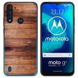 Funda Gel Tpu para Motorola Moto G8 Power Lite diseño Madera 02 Dibujos