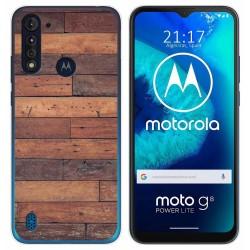 Funda Gel Tpu para Motorola Moto G8 Power Lite diseño Madera 03 Dibujos