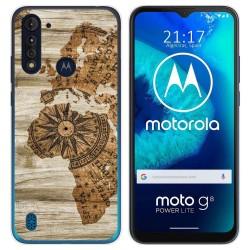 Funda Gel Tpu para Motorola Moto G8 Power Lite diseño Madera 07 Dibujos