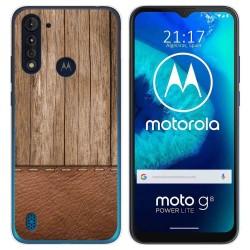 Funda Gel Tpu para Motorola Moto G8 Power Lite diseño Madera 09 Dibujos