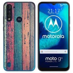 Funda Gel Tpu para Motorola Moto G8 Power Lite diseño Madera 10 Dibujos