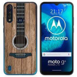 Funda Gel Tpu para Motorola Moto G8 Power Lite diseño Madera 11 Dibujos