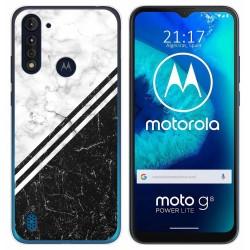 Funda Gel Tpu para Motorola Moto G8 Power Lite diseño Mármol 01 Dibujos