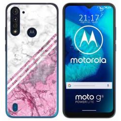Funda Gel Tpu para Motorola Moto G8 Power Lite diseño Mármol 03 Dibujos