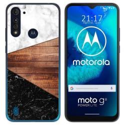 Funda Gel Tpu para Motorola Moto G8 Power Lite diseño Mármol 11 Dibujos