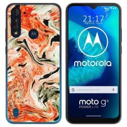 Funda Gel Tpu para Motorola Moto G8 Power Lite diseño Mármol 12 Dibujos