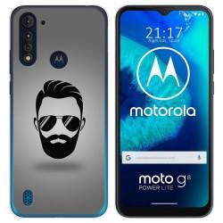Funda Gel Tpu para Motorola Moto G8 Power Lite diseño Barba Dibujos