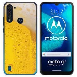 Funda Gel Tpu para Motorola Moto G8 Power Lite diseño Cerveza Dibujos