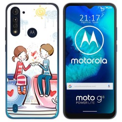 Funda Gel Tpu para Motorola Moto G8 Power Lite diseño Café Dibujos
