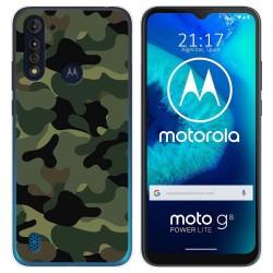 Funda Gel Tpu para Motorola Moto G8 Power Lite diseño Camuflaje Dibujos