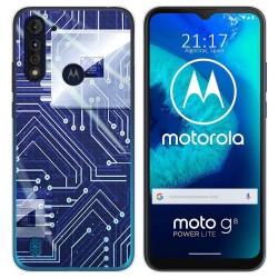 Funda Gel Tpu para Motorola Moto G8 Power Lite diseño Circuito Dibujos