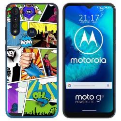 Funda Gel Tpu para Motorola Moto G8 Power Lite diseño Comic Dibujos