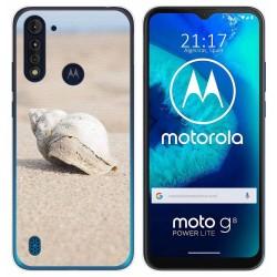 Funda Gel Tpu para Motorola Moto G8 Power Lite diseño Concha Dibujos