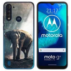 Funda Gel Tpu para Motorola Moto G8 Power Lite diseño Elefante Dibujos