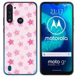 Funda Gel Tpu para Motorola Moto G8 Power Lite diseño Flores Dibujos