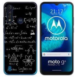 Funda Gel Tpu para Motorola Moto G8 Power Lite diseño Formulas Dibujos
