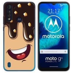 Funda Gel Tpu para Motorola Moto G8 Power Lite diseño Helado Chocolate Dibujos