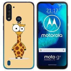 Funda Gel Tpu para Motorola Moto G8 Power Lite diseño Jirafa Dibujos