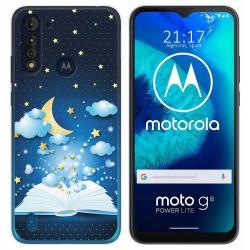 Funda Gel Tpu para Motorola Moto G8 Power Lite diseño Libro Cuentos Dibujos
