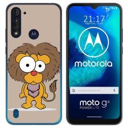 Funda Gel Tpu para Motorola Moto G8 Power Lite diseño Leon Dibujos