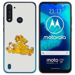 Funda Gel Tpu para Motorola Moto G8 Power Lite diseño Leones Dibujos