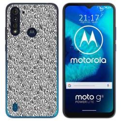 Funda Gel Tpu para Motorola Moto G8 Power Lite diseño Letras Dibujos