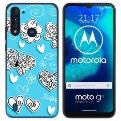 Funda Gel Tpu para Motorola Moto G8 Power Lite diseño Mariposas Dibujos
