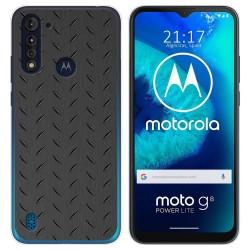 Funda Gel Tpu para Motorola Moto G8 Power Lite diseño Metal Dibujos