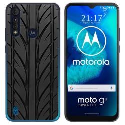 Funda Gel Tpu para Motorola Moto G8 Power Lite diseño Neumatico Dibujos