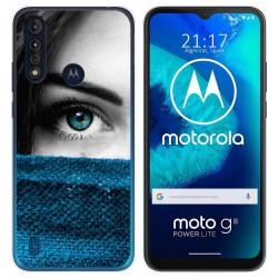 Funda Gel Tpu para Motorola Moto G8 Power Lite diseño Ojo Dibujos