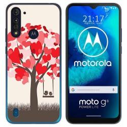 Funda Gel Tpu para Motorola Moto G8 Power Lite diseño Pajaritos Dibujos