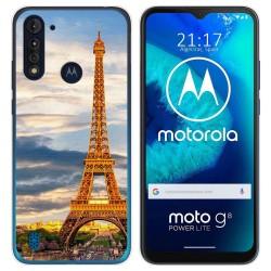 Funda Gel Tpu para Motorola Moto G8 Power Lite diseño Paris Dibujos