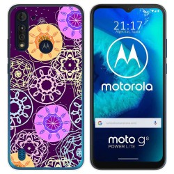 Funda Gel Tpu para Motorola Moto G8 Power Lite diseño Radial Dibujos