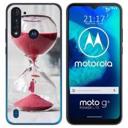 Funda Gel Tpu para Motorola Moto G8 Power Lite diseño Reloj Dibujos