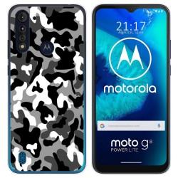 Funda Gel Tpu para Motorola Moto G8 Power Lite diseño Snow Camuflaje Dibujos