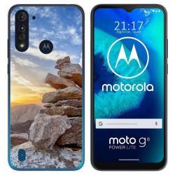 Funda Gel Tpu para Motorola Moto G8 Power Lite diseño Sunset Dibujos