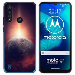Funda Gel Tpu para Motorola Moto G8 Power Lite diseño Tierra Dibujos