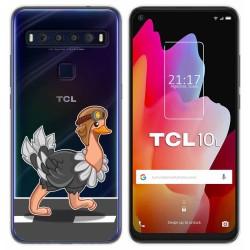 Funda Gel Transparente para TCL 10L diseño Avestruz Dibujos
