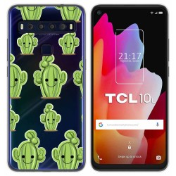 Funda Gel Transparente para TCL 10L diseño Cactus Dibujos