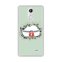 Funda Gel Tpu para Leagoo M5 Plus Diseño Nube Dibujos