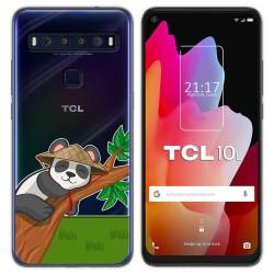 Funda Gel Transparente para TCL 10L diseño Panda Dibujos