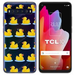 Funda Gel Transparente para TCL 10L diseño Pato Dibujos