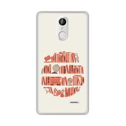 Funda Gel Tpu para Leagoo M5 Plus Diseño Mundo Libro Dibujos