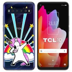 Funda Gel Transparente para TCL 10L diseño Unicornio Dibujos