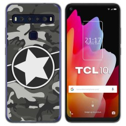 Funda Gel Tpu para TCL 10L diseño Camuflaje 02 Dibujos