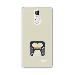 Funda Gel Tpu para Leagoo M5 Plus Diseño Pingüino Dibujos