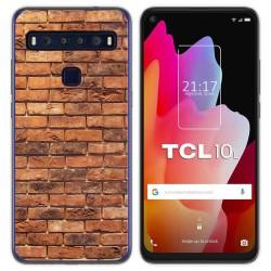 Funda Gel Tpu para TCL 10L diseño Ladrillo 04 Dibujos