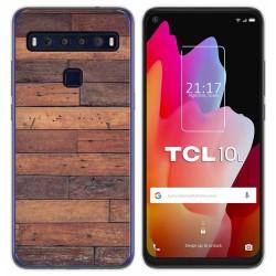 Funda Gel Tpu para TCL 10L diseño Madera 03 Dibujos