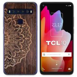 Funda Gel Tpu para TCL 10L diseño Madera 06 Dibujos