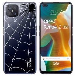 Funda Gel Transparente para Oppo Reno 4Z 5G diseño Araña Dibujos
